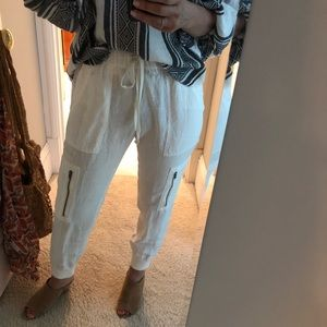 Joie linen off white pant